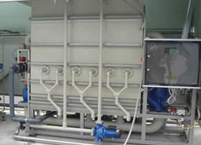 Ultrafiltrazione da 6 mc/h. Ultrafiltering with hourly flow of 6 mc/h.