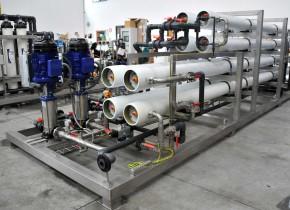 Osmosi inversa doppio stadio da 20 mc/h. Two stage reverse osmosis 20 mc/h.