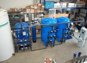 Impianto per riduzione zinco da acqua di prima pioggia. Plant for reducing zinc from rainwater.